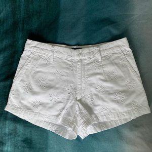 KEDS White Eyelet Cotton Shorts